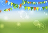 Vector clipart: Party flags celebrate abstract background and summe