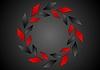 Vector clipart: Tech geometric red black logo design