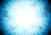 Vector clipart: Light blue tech gear background