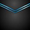Vector clipart: Blue black contrast arrows corporate design