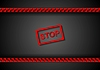 Vector clipart: Stop sign and red danger tape design