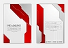 Vector clipart: Abstract red grey geometric tech flyer design