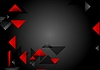 Vector clipart: Dark red black tech geometric background