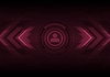 Dark hi-tech background with HUD interface and