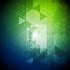 Vector clipart: Blue green tech triangles pattern