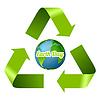 Earth Day Design mit Recycling-Pfeile | Stock Vektrografik