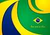 Vector clipart: Brazil colors abstract corporate wavy background