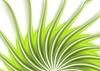 Vector clipart: Green swirl wavy beams abstract background