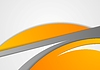 Vector clipart: Abstract corporate orange grey wavy background