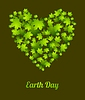 Vector clipart: Earth Day ecology green leaves background