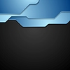 Vector clipart: Blue and black tech corporate background