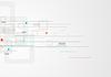 Grau Tech minimal Hintergrund mit Quadraten und Pfeilen | Stock Vektrografik