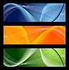 Vector clipart: Bright abstract wavy banners