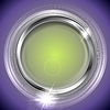 Vector clipart: Bright shiny background with metal circle frame