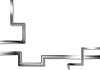 Vector clipart: Abstract tech metallic stripes