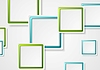 Vector clipart: Bright green and blue geometric squares design