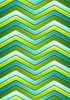 Vector clipart: Abstract green and turquoise curved stripes