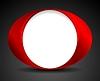 Vector clipart: Abstract bright circle O shape logo design