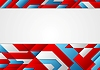 Vector clipart: Abstract blue and red tech corporate design