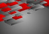 Abstract red grey corporate tech 3d shapes