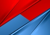 Abstract red and blue smooth contrast background