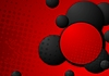 Black and red circles grunge background