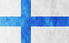 Vector clipart: Finnish grunge flag background