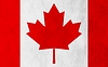 Vector clipart: Canadian grunge flag background