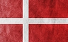 Vector clipart: Danish grunge flag background