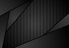 Vector clipart: Abstract black technology striped design