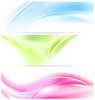 Vector clipart: Abstract colorful wavy banners