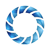 Vector clipart: Blue abstract concept circle logo design