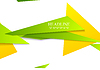 Vector clipart: Bright tech corporate shapes abstract background