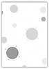 Vector clipart: Grey tech circles abstract background