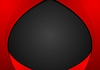 Abstract contrast red black wavy corporate
