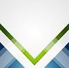 Vector clipart: Minimal tech geometric green blue background