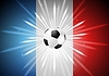 Vector clipart: European Football Championship in France background