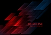 Dunkelblau roten Formen abstrakte Tech-Hintergrund | Stock Vektrografik