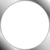 Abstract metallic silver blank circle frame
