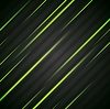 Vector clipart: Abstract shiny green glowing stripes flyer design