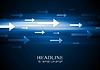 Dunkelblau hallo-Tech-Hintergrund mit Pfeilen | Stock Vektrografik