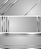 Vector clipart: Minimal abstract technology silver headers