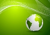 Vector clipart: Green background with globe and lines