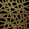 Vector clipart: Retro black golden pattern stripes design