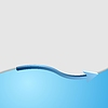 Vector clipart: Blue technology background with wave and arrow