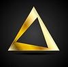 Vector clipart: Golden triangle logo element