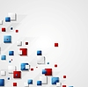 Vector clipart: Blue and red squares background