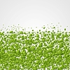 Vector clipart: Geometric corporate background with green squares