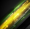 Vector clipart: Glowing yellow and green hi-tech background with