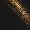 Abstract dark orange tech geometric background